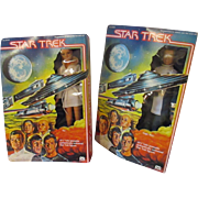 2 MEGO Star Trek character vintage figurine dolls Ilia and James Kirk MIB 1979