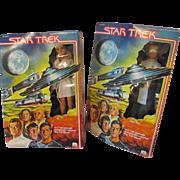 2 MEGO Star Trek character vintage figurine dolls Ilia and James Kirk MIB 1979
