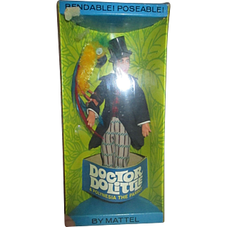 Mattel Vintage MIB Dr. Dolittle with Polynesia Parrot unopened in box