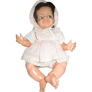 Baby Giggles doll vintage 1960's googly eyed baby 1968 IDEAL doll company