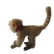 Vintage Steiff Coco Baboon Mohair Plush 10 cm 4 Inches Chest Tag Only