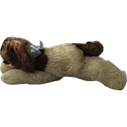 "Steiff sleeping dog vintage Floppy Cockie Cocker Spaniel with all tags and ID 12"" long"