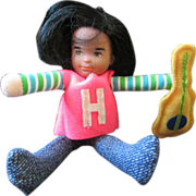 Honey Hill Bunch Rock Star doll miniature Mattel 1976 SOLO  guitar