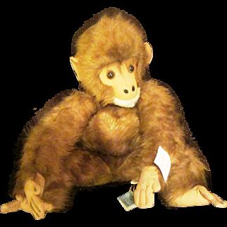 Giant Kamar  Watusi 1960's Orangutang gorilla vintage with tags large monkey ape