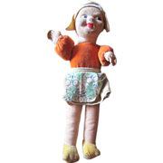 "Little 8"" Norah Welling cloth Dutch girl doll 1940's"