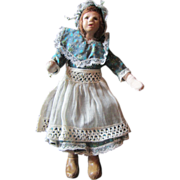 Very old dollhouse doll Clay face Lady of the house