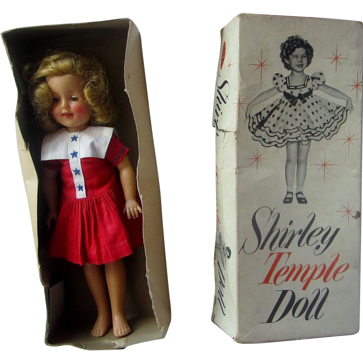 Shirley temple in original box IDEAL vinyl 1957 orig dress