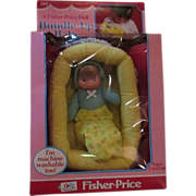 Bundle-Up baby Fisher Price tiny doll MIB 1979