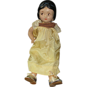 Composition strung Snow White old doll needs TLC  marked Walt Disney