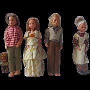 Vintage Sunshine Family doll set by Mattel 1973