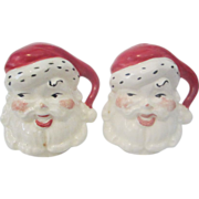 Creepy Santa Claus Salt and Pepper Shakers need stoppers vintage