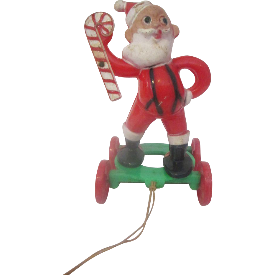 Santa Claus Toys : E rosen santa claus vintage pull toy from the s