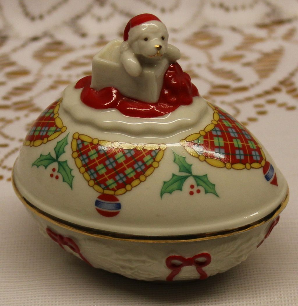 1984 Lenox Christmas Porcelain Egg