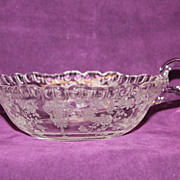 Cambridge Glass Rose Point 5 Inch Nappy Candy Dish