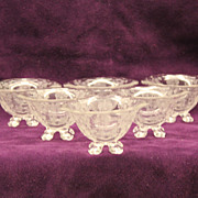 Cambridge Glass Company Rose Point 4 Toed Nut Dishes, #3400/71 set of 6