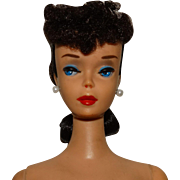 Vintage Brunette #4 Ponytail Barbie Doll
