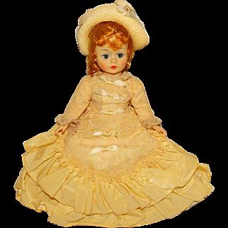 """Madame Alexander Vintage 1960s 10"""" Cissette Godey Doll"""