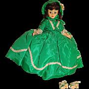 "Madame Alexander 1960s 10"" Cissette Scarlett O'Hara Doll"