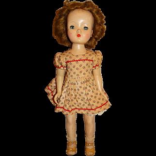 "Madame Alexander 1950s 18"" Auburn Binnie Walker Doll w/Cissy Face"