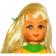 Vintage Barbie Blonde Chris Doll with Barrette and Bows Tutti Friend