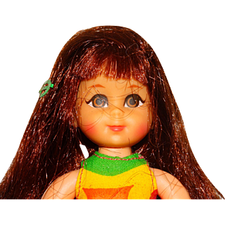 Vintage Barbie Redhead Chris Doll w/Barrette and Bows Tutti Friend