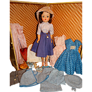 "Madame Alexander 1950s 20"" Brunette Cissy Doll w/Tagged Outfit plus Collection"