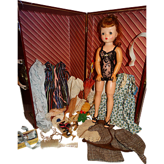 """Madame Alexander 1950s 20"""" Brunette Cissy Doll w/Tagged Outfit plus Collection"""