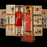 Vintage Brunette Dressed Box Arabian Nights Barbie & Ken Dolls