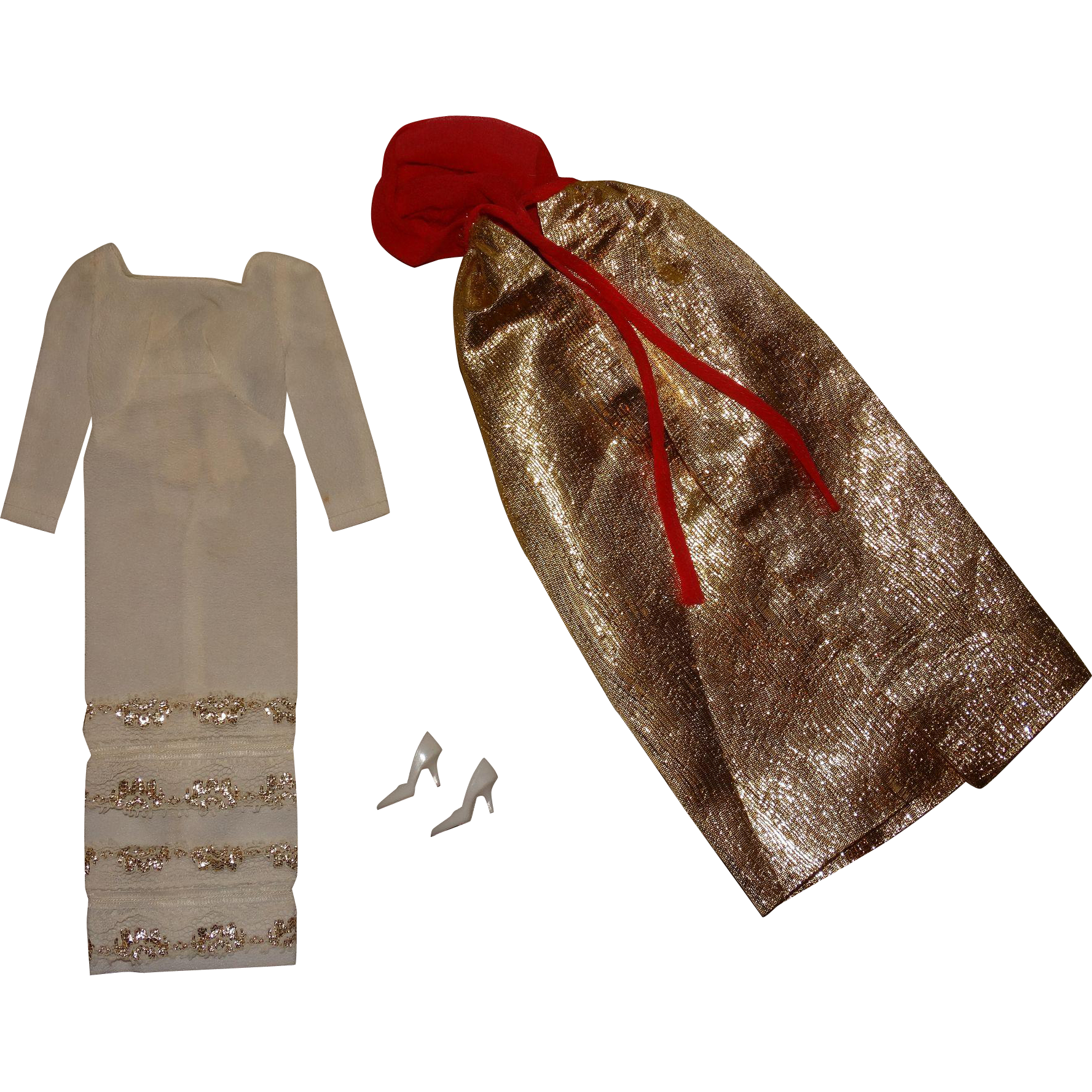 Vintage Barbie Complete Formal Occasion Outfit w/Variation Embroidery