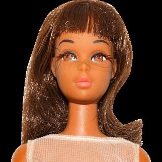 Vintage Brunette 2nd Issue TNT Black Francie Doll w/Wrist Tag