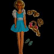 Vintage Blonde Hair Happenin's Twist & Turn Francie Doll w/Hairpieces