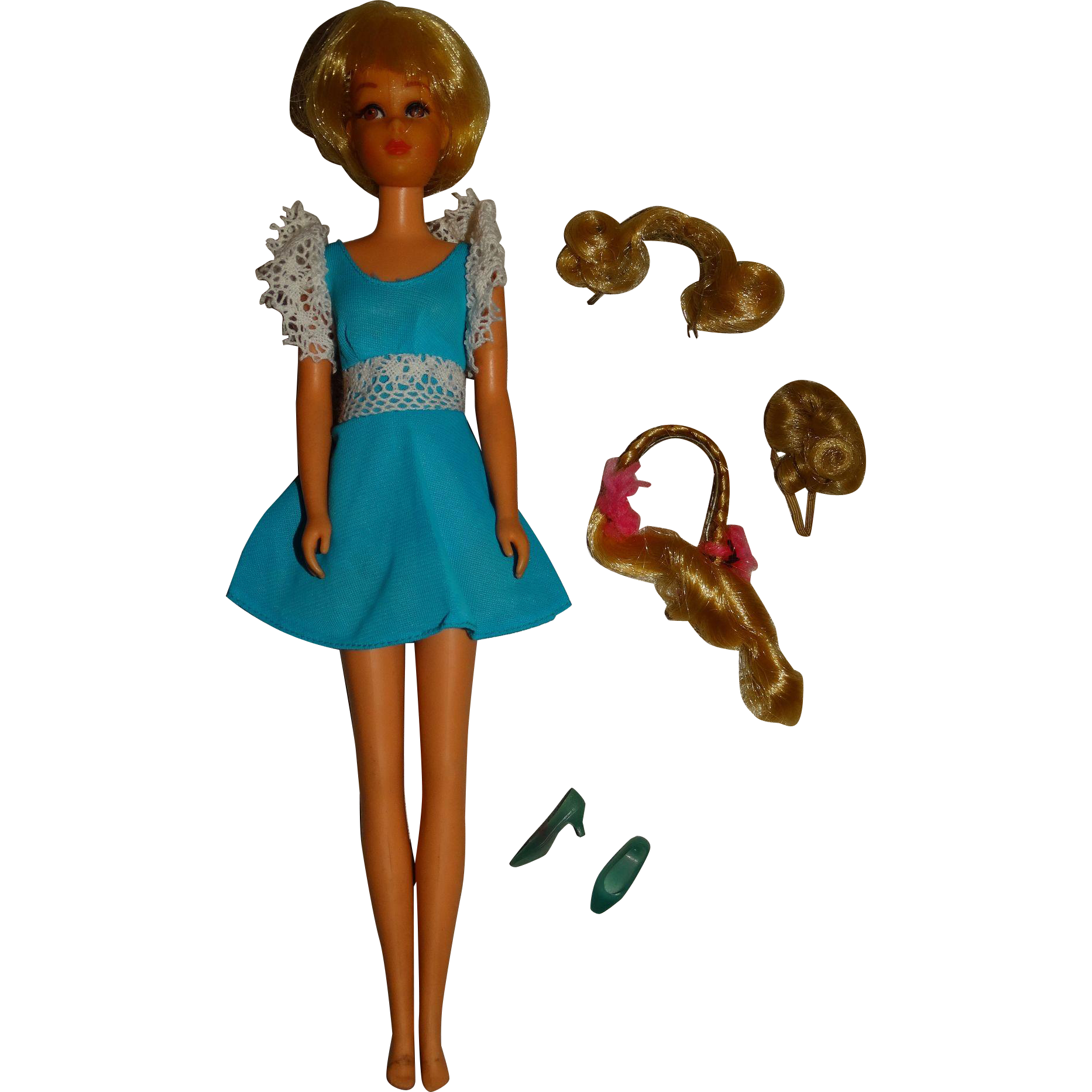 Vintage Blonde Hair Happenin's Twist & Turn Francie Doll w/Hairpieces