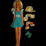 Vintage Platinum Blonde Hair Happenin's Francie Doll w/Hairpieces