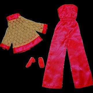 Vintage Francie Complete Satin Happenin' Outfit