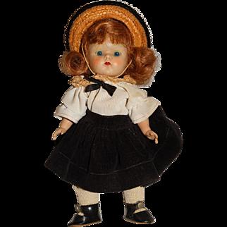 "Vogue Vintage Early 7.5"" Auburn Strung Ginny Doll"