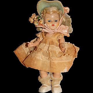 "Vogue Vintage Early 7.5"" Light Blonde Strung Ginny Doll"