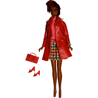 Vintage Redhead Store Display TNT Julia Doll w/Wrist Tag & Leather Weather Outfit