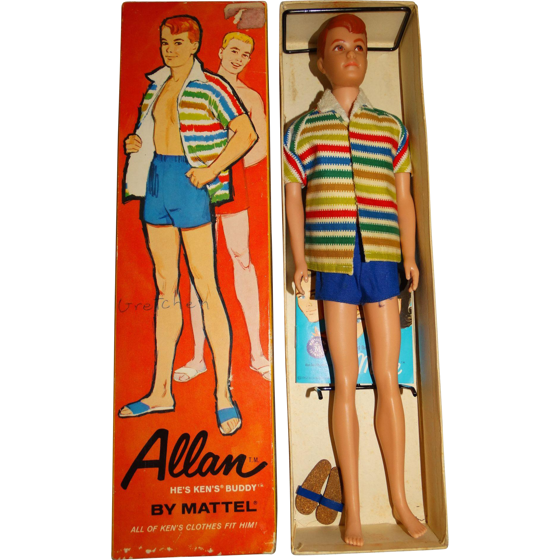 Vintage Redhead Straight Leg Allan Doll w/Box