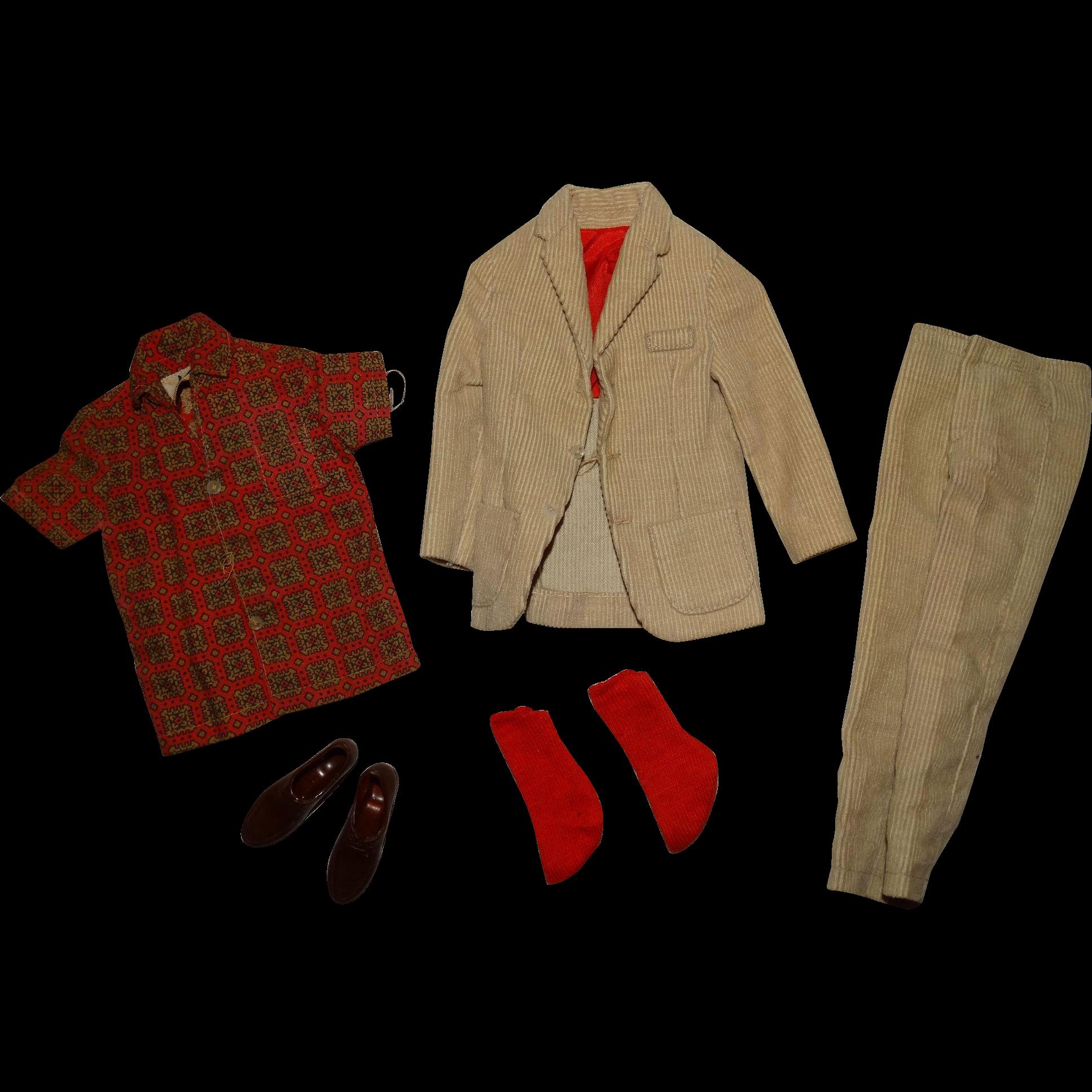 Vintage Ken Complete Pak Campus Cords Outfit