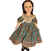 "Madame Alexander Vintage 1949 Hard Plastic 15"" Beth Doll"