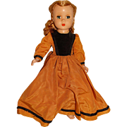 "Madame Alexander 1949 Hard Plastic 15"" Little Women Amy Doll"