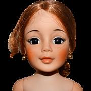 "Madame Alexander 1960s 20"" Nude Redhead Vinyl Portrait Doll"