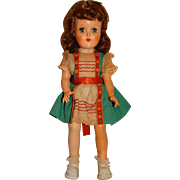 "Ideal Vintage 1950's 15"" Auburn P-90 Toni Doll"