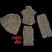 Vintage Barbie Pak Black & White Cotton Separates Outfit