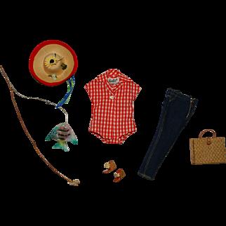 Vintage Barbie Complete Picnic Set Outfit