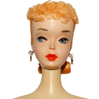 Vintage Blonde #3 Ponytail Barbie Doll w/Brown Eyeliner