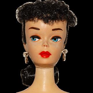 Vintage Brunette #3 Ponytail Barbie Doll w/Brown Eyeliner