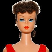 Vintage Brunette Ponytail Barbie Doll