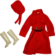 Vintage Barbie Complete Red For Rain Outfit