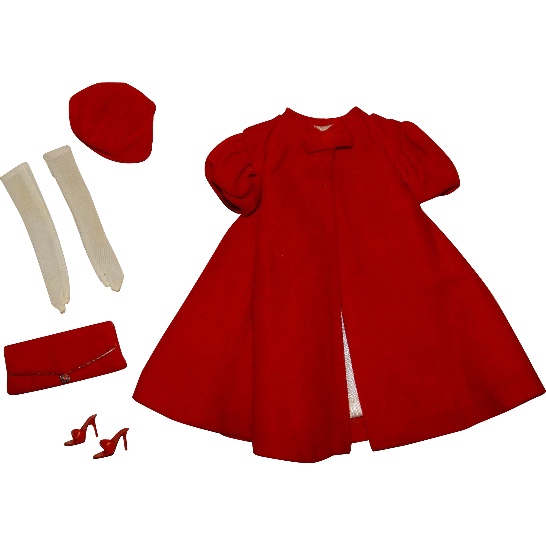 Vintage Barbie Complete Red Flare Outfit